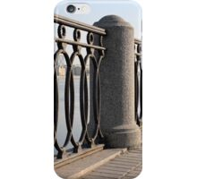 cast iron fence promenade iPhone Case/Skin