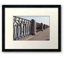 cast iron fence promenade Framed Print