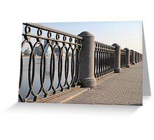 cast iron fence promenade Greeting Card