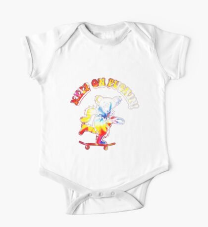 Keep On Pushin Bear Tie Dye One Piece - Short Sleeve