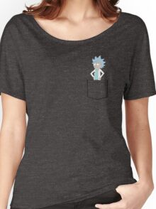 Tiny Rick Pocket! Women's Relaxed Fit T-Shirt