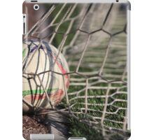 soccer ball in net iPad Case/Skin