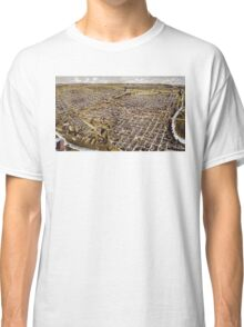 Perspective map of Fort Worth, Texas - 1891 Classic T-Shirt