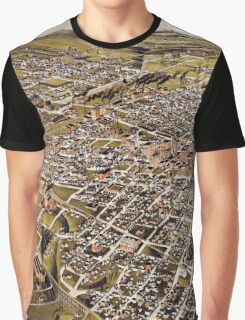 Perspective map of Fort Worth, Texas - 1891 Graphic T-Shirt