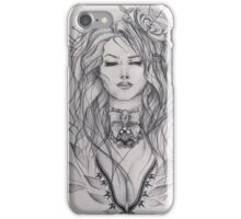 Curly haired girl iPhone Case/Skin