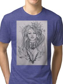 Curly haired girl Tri-blend T-Shirt