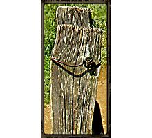 """Old Fence Post and Rusted Wire""... prints and products Photographic Print"