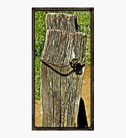 """""""Old Fence Post and Rusted Wire""""... prints and products Photographic Print"""
