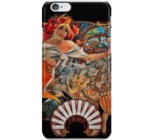 Nouveau Woman Swirling Hair iPhone Case/Skin