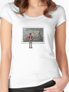 Cameron, The Real Hero Women's Fitted Scoop T-Shirt