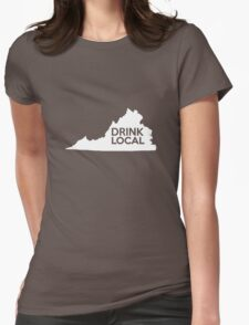 Virginia Drink Local VA Womens Fitted T-Shirt