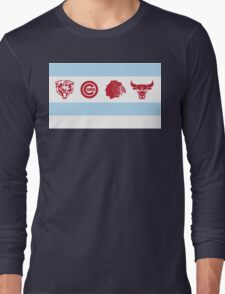 Chicago Sports Flag Long Sleeve T-Shirt