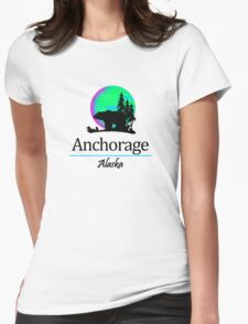 Anchorage, Alaska Womens Fitted T-Shirt