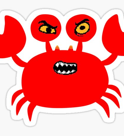 Angry Kar-Crab Sticker