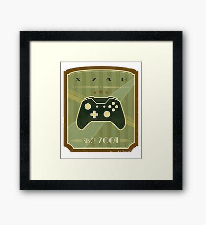 Retro Xbox One Controller Framed Print