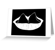 split tongue inverted Greeting Card
