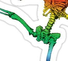 Depression Skeleton: Showtime! ROYGBIV Sticker