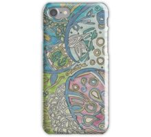 Abstract  Underwater Jellyfish Drawing iPhone Case/Skin