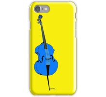 Blue double bass iPhone Case/Skin
