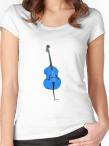 Blue double bass Women's Fitted Scoop T-Shirt