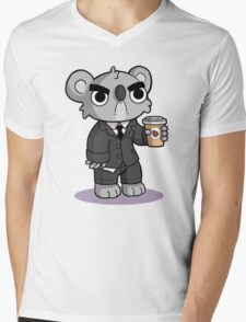 Grumpy Koala Mens V-Neck T-Shirt