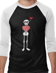 Peter the Skeleton - Roses Men's Baseball ¾ T-Shirt