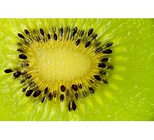 Green Kiwi Fruit Slice Fresh Slices Kiwis Photographic Print