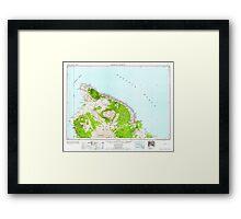 USGS TOPO Map Hawaii HI Hawaii North 349919 1961 250000 Framed Print