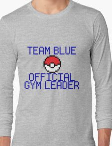 Team Blue - Official Pokemon Gym Leader Long Sleeve T-Shirt