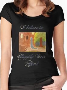 Cinderella's Arrival, I believe in Happily Ever After! Women's Fitted Scoop T-Shirt