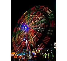 Ferris Wheel in Motion - Luna Park, Sydney Photographic Print