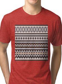 Scandinavian knitted pattern  Tri-blend T-Shirt