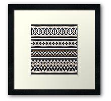 Scandinavian knitted pattern  Framed Print