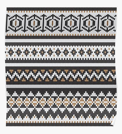 Scandinavian knitted pattern  Poster