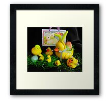 Easter With Mom, the Kids and a Cousin Framed Print