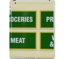 grocery sign iPad Case/Skin