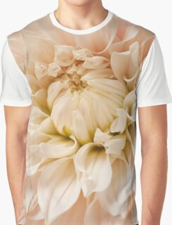 Pink Dahlia Blossom Flower Background Graphic T-Shirt