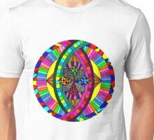 Psychedelic Abstract colourful work 148 Crest Unisex T-Shirt