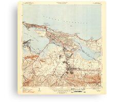 USGS TOPO Map Puerto Rico PR San Juan 362584 1947 30000 Canvas Print