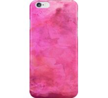 Pink Watercolor Paper Background Texture iPhone Case/Skin