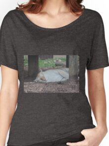 Tiger dozing Women's Relaxed Fit T-Shirt