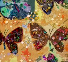 Butterflies in Spring Snowstorm Sticker