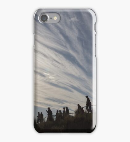 walking downhill iPhone Case/Skin