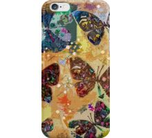 Butterflies in Spring Snowstorm iPhone Case/Skin