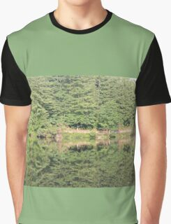 trees reflected in lake Graphic T-Shirt