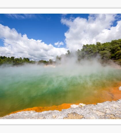 Champagne Pool, Wai-O-Tapu, New Zealand Sticker