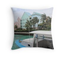 Nassau Bahamas wharf Throw Pillow