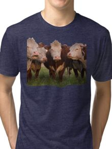 Cow Clan (Ripped Version). Tucson, Arizona, USA. Tri-blend T-Shirt