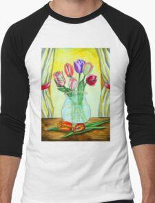 Spring Tulips Men's Baseball ¾ T-Shirt