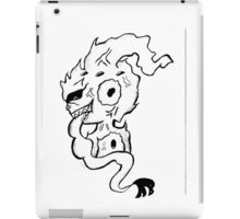 kid buu bw iPad Case/Skin